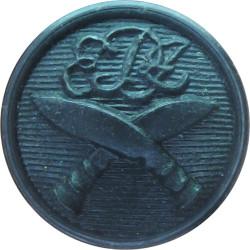 2nd King Edward VII's Own Gurkha Rifles (No Crown) 12mm - Black  Plastic Military uniform button