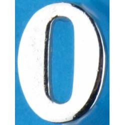 Police Shoulder / Collar Number 0   Chrome-plated UK Police or Prison insignia