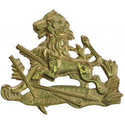 British South Africa Police Helmet Badge 1949-1971  Brass Overseas Police, Prison or Corrections insignia