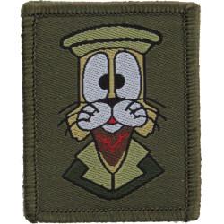 RLC: 11 EOD Regiment (Felix - Cat With 9 Lives)Olive Afghanistan Version  Woven Regimental cloth arm badge