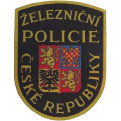 Czech Republic Railway Police - Zeleznicne Policie Arm Badge  Woven Overseas Police, Prison or Corrections insignia