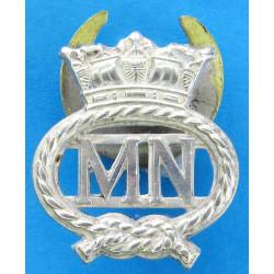 Merchant Navy Buttonhole Badge  White Metal Lapel or sweet-heart badge