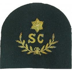 Royal Marines SC In Wreath+ 1 Star: Swimmer Canoeist Trade: Gold On Lovat  Bullion wire-embroidered Marines or Commando insignia