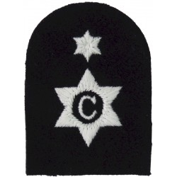 Cook - C In 6-Pointed Star + 1 Star Trade: White On Navy  Embroidered Naval Branch, rank or miscellaneous insignia
