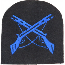 Crossed Rifles On Tombstone Shape (Marksman) WRNS - Blue On Navy  Embroidered Naval Branch, rank or miscellaneous insignia