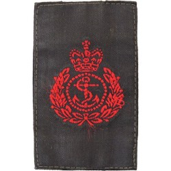 QARNNS Chief Petty Officer Slip-On Rank Slide Red On Black with Queen Elizabeth's Crown. Woven Naval Branch, rank or miscellaneo