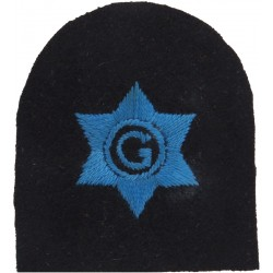 WRNS Boat's Crew - G In 6-Pointed Star - 1942-1951 Trade: Blue On Navy  Embroidered Naval Branch, rank or miscellaneous insignia
