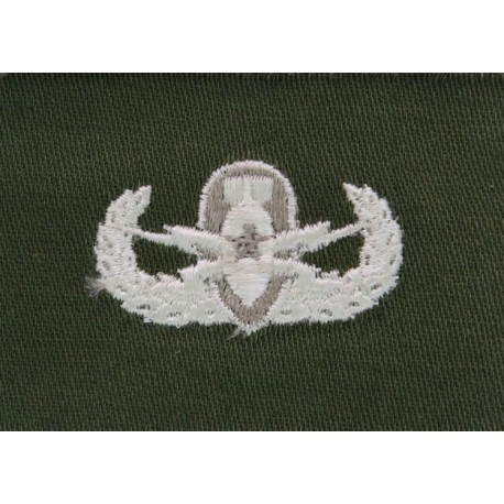 US Forces Explosive Ordnance Disposal Senior Badge White On Olive  Embroidered Army cloth trade badge