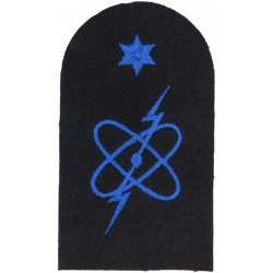 WRNS Electronic Warfare (Electron) + 1 Star Trade: Blue On Navy  Embroidered Naval Branch, rank or miscellaneous insignia
