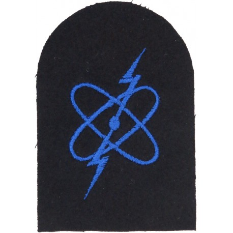 WRNS Electronic Warfare (Electron) Trade: Blue On Navy  Embroidered Naval Branch, rank or miscellaneous insignia