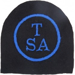 WRNS Training Support Assistant: TSA In Circle Trade: Blue On Navy  Embroidered Naval Branch, rank or miscellaneous insignia