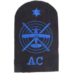 WRNS Aircraft Controller Plane & Rotors + Star + AC Trade: Blue On Navy  Embroidered Naval Branch, rank or miscellaneous insigni
