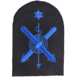 WRNS Crossed Torpedoes; Harpoon; Rope + Star Trade: Blue On Navy  Embroidered Naval Branch, rank or miscellaneous insignia