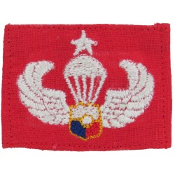 Philippines Constabulary Senior Parachute Wings On Red  Embroidered Parachute jump wings or badge