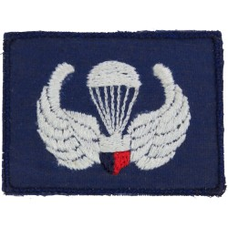 Philippines Air Force Basic Parachute Wings On Mid-Blue  Embroidered Parachute jump wings or badge