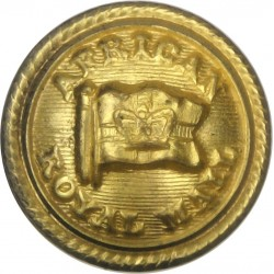 African Royal Mail - Shipping Button - Roped Rim 20mm with Queen Victoria's Crown. Gilt Merchant Navy or Shipping uniform button