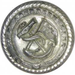 Aberdeen Line - Shipping Button - Roped Rim 16.5mm - Pre-1932  Silver-plated Merchant Navy or Shipping uniform button