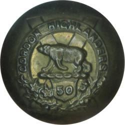 50th Regiment (Gordon Highlanders) - Canadian Army 25mm - 1913-1920  Brass Military uniform button