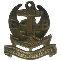 Boys' Brigade Buttonhole Badge  Brass Lapel or sweet-heart badge