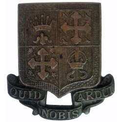 13th Bn London Regiment (Kensington) Pre-1953  Bronze Officers' collar badge
