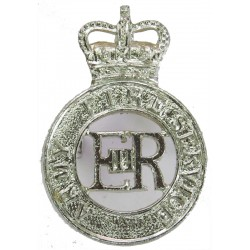 Army Fire Service Rare with Queen Elizabeth's Crown. Anodised Staybrite army cap badge