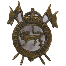 2nd Royal Lancers (Gardners's Horse) (Indian Army) 1940-1950 with King's Crown. Brass Other Ranks' metal cap badge
