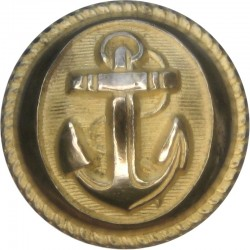 French Navy - Officers 22mm  Gilt Military uniform button