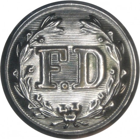 Fire Department (FD In Wreath) 23mm  Chrome-plated Fire Service uniform button