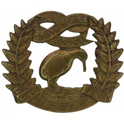 4th (Otago Rifles) Regiment New Zealand 1911-21 with King's Crown. Brass Other Ranks' metal cap badge