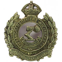 3rd (Auckland) Regiment (Countess Of Ranfurly's Own) New Zealand 1911-21 with King's Crown. Brass Other Ranks' metal cap badge