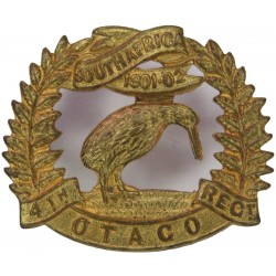 4th (Otago Rifles) Regiment - New Zealand FR - 1911-1921 with King's Crown. Brass Other Ranks' collar badge
