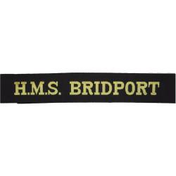HMS Bridport (Sandown Class Minehunter) Cap-Tally 1993-2004  Woven Naval cap badge or cap tally