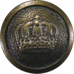 7th Duke Of Edinburgh's Own Gurkha Rifles - Black 26mm - With Cipher Horn Military uniform button