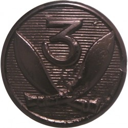 Royal Irish Fusiliers 14mm - Officers Bronze Military uniform button