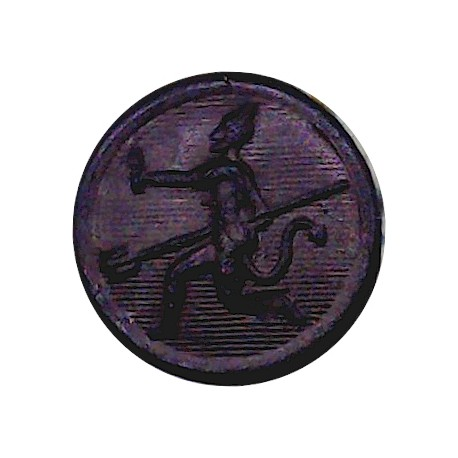 Indian Army Ordnance Corps 12.5mm - Pre-1947 with King's Crown. Gilt Military uniform button