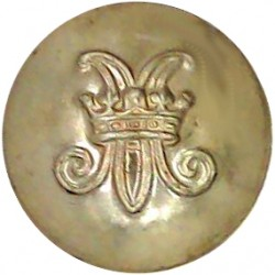 Royal Electrical And Mechanical Engineers 15mm - 1947-1952 with King's Crown. Bronze Military uniform button