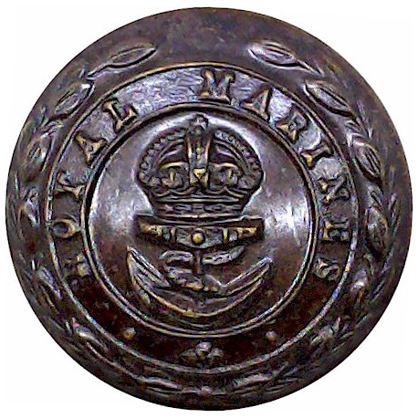 Royal Marines - Officers 24mm with King's Crown. Bronze Military uniform button