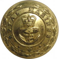 French Marine Infantry - Other Ranks 15mm - Unlined Brass Military uniform button