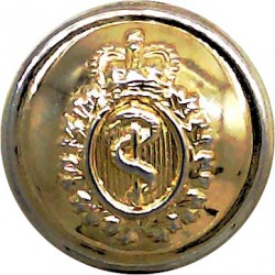 French Marine Infantry - Other Ranks 17mm - Unlined Brass Military uniform button
