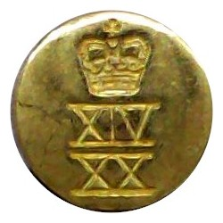 French Marine Infantry - Other Ranks 20mm - Unlined Brass Military uniform button