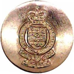 Royal Army Ordnance Corps Blazer Button 15mm with Queen Elizabeth's Crown. Brass Military uniform button