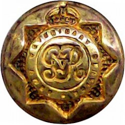 Army Veterinary Service - GvR 13.5mm - 1910-1918 with King's Crown. Brass Military uniform button
