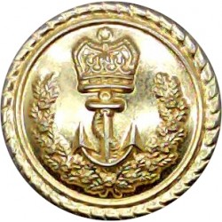 Royal Canadian Navy - Officers (Roped Rim) 17mm with Queen Elizabeth's Crown. Gilt Military uniform button