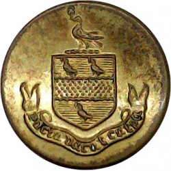 Royal Electrical And Mechanical Engineers 15mm - Blazer Button with Queen Elizabeth's Crown. Gilt Military uniform button