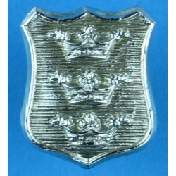 Hull City Police Collar Badge  Chrome-plated UK Police or Prison insignia
