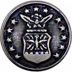 United States Marine Corps 17mm - Black Plastic Military uniform button