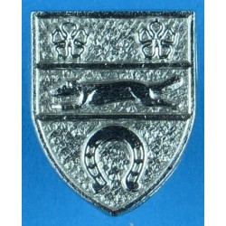 Leicestershire Constabulary Collar Badge  Chrome-plated UK Police or Prison insignia