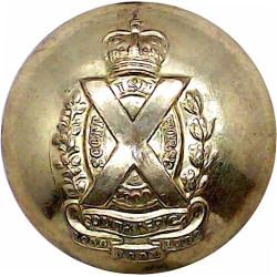 Oman - Royal Navy Of Oman - Officer's - Roped Rim 16.5mm - Post-1990 Gilt Military uniform button