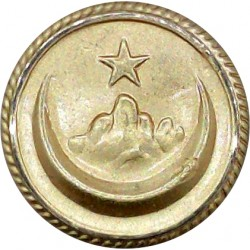 Abu Dhabi Army (Hawk With Stars) 17.5mm - Screw-Fit  Gilt Military uniform button