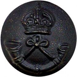 Highland Light Infantry (City Of Glasgow Regiment) 15.5mm Mounted Dome with King's Crown. Gilt Military uniform button